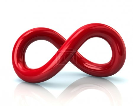 Red infinity symbol