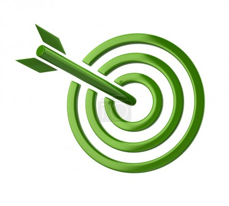 green target with arrow