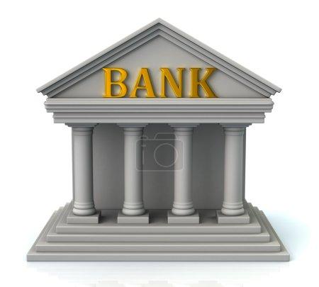Symbol für Bankgebäude