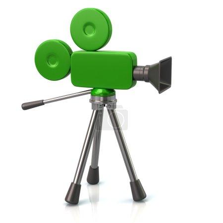 green movie camera symbol