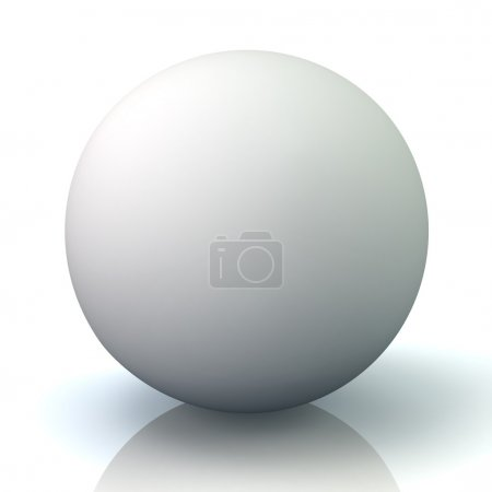 blank white sphere