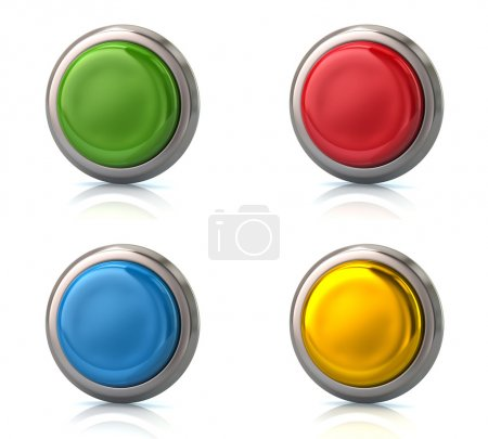 Set of blank round buttons
