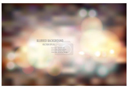 Illustration pour Illustration vectorielle de lumière floue abstraite de couleur douce conception de mise en page, peut être utilisé pour le concept de fond ou le fond du festival . - image libre de droit
