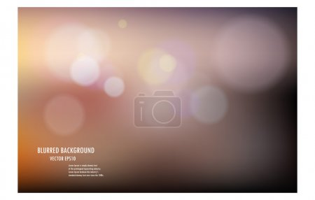 Illustration for Vector illustration of soft colored abstract blurred light background layout design , can be use for background concept or festival background. - Royalty Free Image