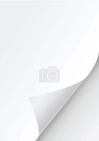 Paper curl corner white background