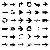 Black and white Arrow icon set