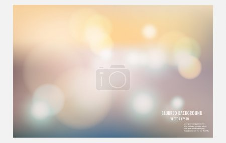 Illustration for Abstract colorful blurred background, vector illustrator desige wallpaper,blur bokeh light background. - Royalty Free Image