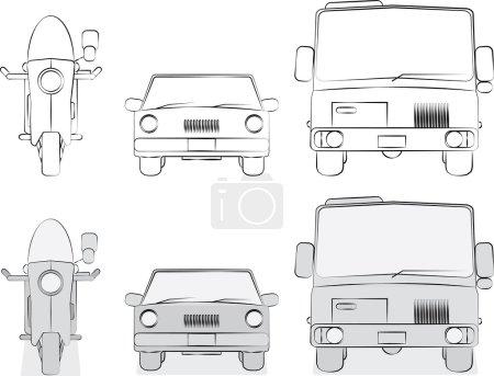 Original vehicles sketches