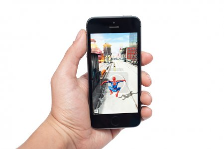 IPhone 5s with SpiderMan Unlimited