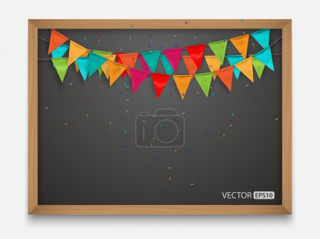 Flag on blackboard,vector