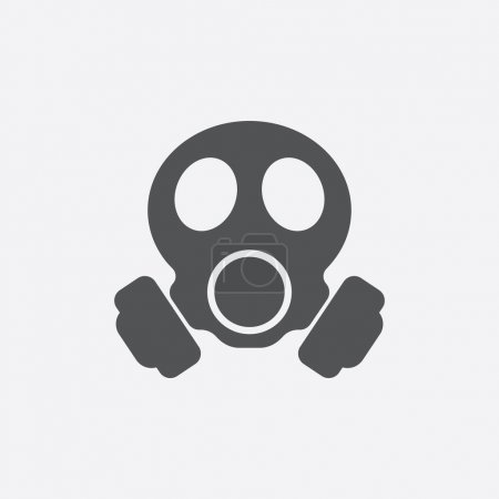 Illustration for Gas mask icon of vector illustration for web and mobile design - Royalty Free Image
