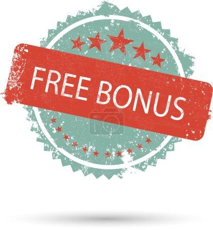 vector illustration of grunge icon free bonus