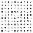 Industry 100 icons set for web flat...