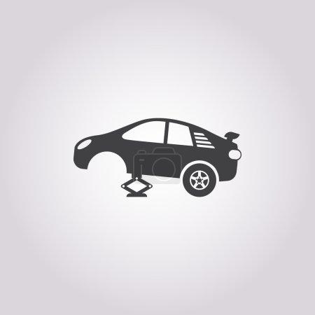 tire car jack icon on white background