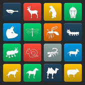 16 simple icons set for web