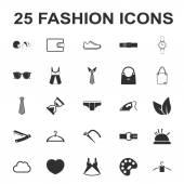 beauty shopping fashion 25 black simple icon set for web