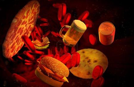 Cholesterol blocked artery