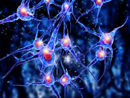 Viruses attacking nerve cells