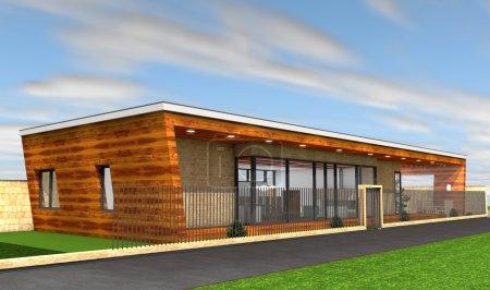 Foto de Render 3D de casa moderna - Imagen libre de derechos