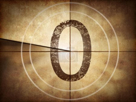 Old movie countdown number 0