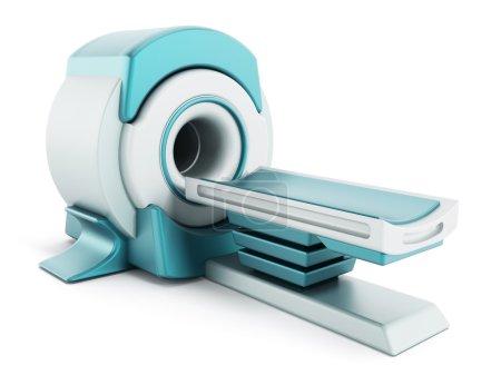 Magnetic Resonance Imaging MRI system isolated on white background