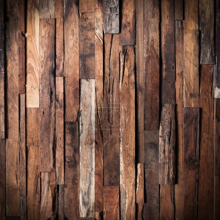 Photo for Design of dark wood texture background - Royalty Free Image