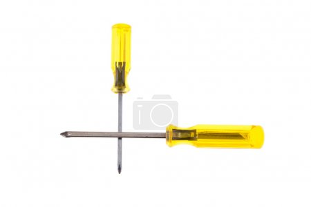 screwdriver tool isolated on white background