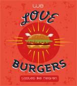 Poster Vintage Burgers poster design