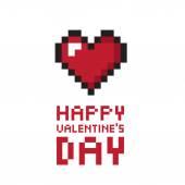Pixel valentine's day background