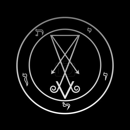 The official symbol of Lucifer in the circle...