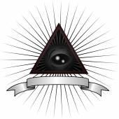 All seeing gray allian eye