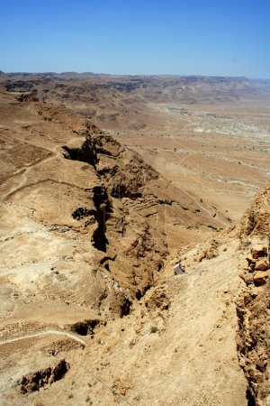 Photo for Masada ruins are historical places in Israel - Royalty Free Image