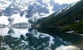 Amazing mountain lake The Sea Eye - in Tatry, Poland, may trip