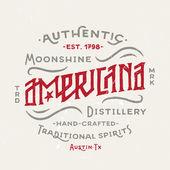 Americana Moonshine Distillery Vintage Design