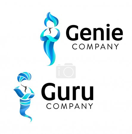 Jinn Graphic Symbols. Vector illustration of two g...