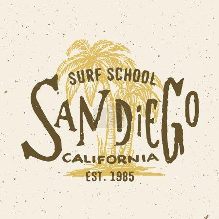 San Diego California graphic
