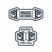 Set of Musical Badge Designs