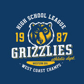 Grizzlies team sport t-shirt