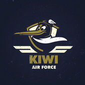 T-shirt design 'Kiwi Air Force'