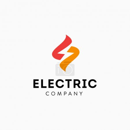 Illustration for Lightning Bolt Minimal Simple Symbol. Memorable Visual Metaphor. Represents the Concept of Electricity, Power, Strength, Zeal, Enthusiasm, Speed, Fast delivery, Storm, Energy, Light, Action, Shock etc - Royalty Free Image