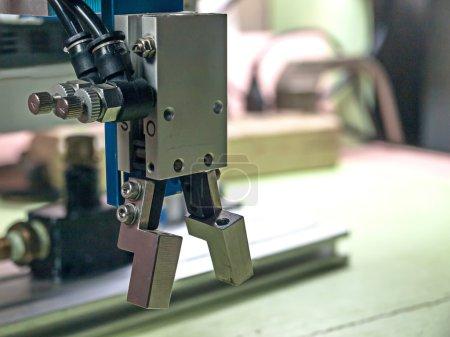 Photo pour Poignée de robot pneumatique, matériau en alliage d'aluminium . - image libre de droit