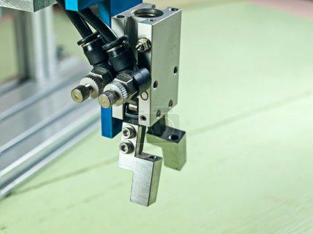 Photo pour Entrée pneumatique à poignée de robot poignée, poignée est un matériau en alliage d'aluminium . - image libre de droit