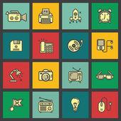 Set flat icons