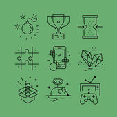 Set of line vectors icons in the flat style
