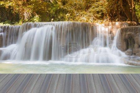 Opening wooden floor, Huay Mae Kamin Waterfall