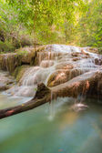 Natural waterfall in deep forest national park