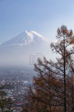 Fuji mountain high view with clear blue sky