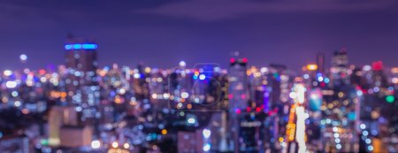 Blurred city lights with bokeh