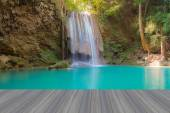 Deep forest water falls in national park of Thailand