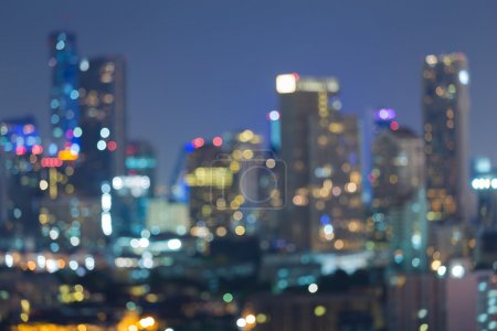 Photo for Abstract blurred bokeh background, city lights at night - Royalty Free Image